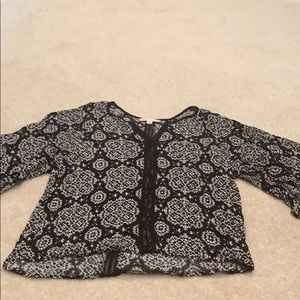 Black and white Lovestitch blouse